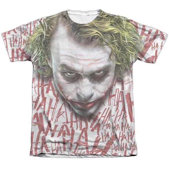 Dark Knight Joker Face Adult Poly Cotton Short Sleeve Tee T-Shirt