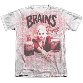 Izombie Brains Adult Poly Cotton Short Sleeve Tee T-Shirt