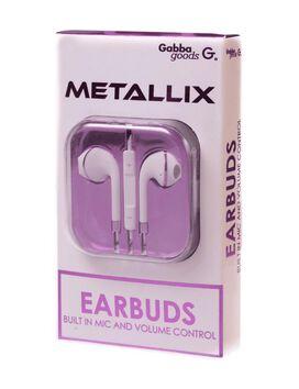 Gabba Goods Metallix Earbuds [White]