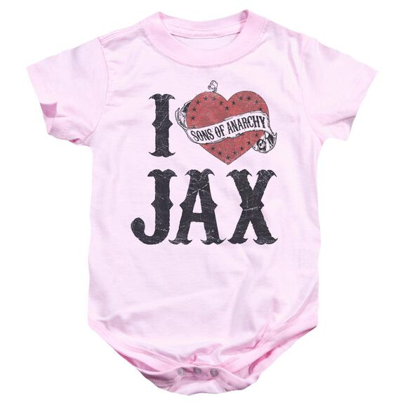 Sons Of Anarchy I Heart Jax Infant Snapsuit Pink