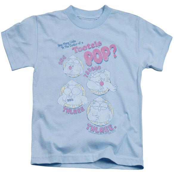 Tootsie Roll Three Short Sleeve Juvenile Light Blue T-Shirt