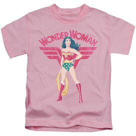 Jla Ww Sparkle Short Sleeve Juvenile Pink T-Shirt