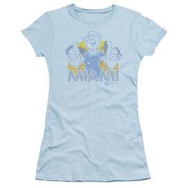 Popeye Miami Short Sleeve Junior Sheer Light T-Shirt