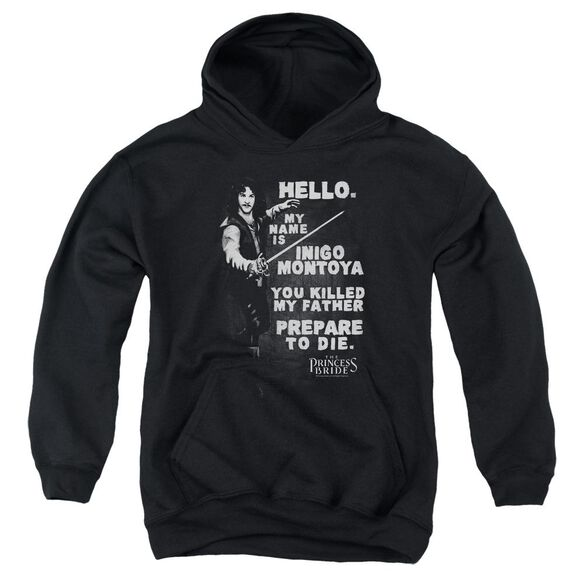 Princess Bride Hello Again Youth Pull Over Hoodie