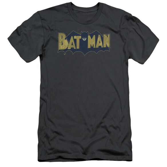Batman Vintage Logo Splatter Short Sleeve Adult T-Shirt