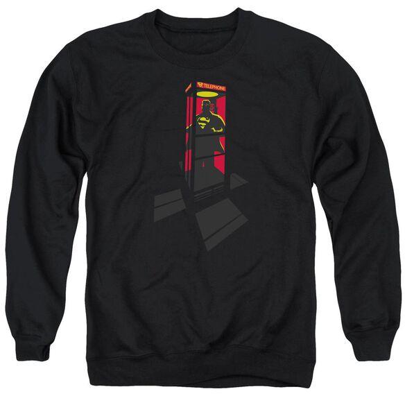 Superman Super Booth - Adult Crewneck Sweatshirt - Black