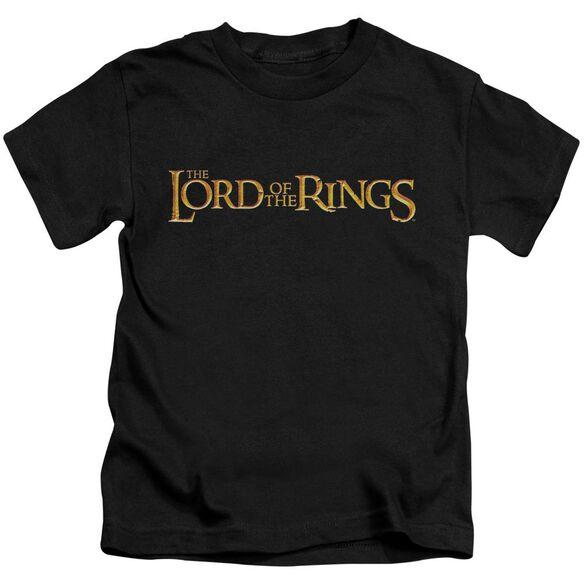 Lor Lotr Logo Short Sleeve Juvenile Black Md T-Shirt