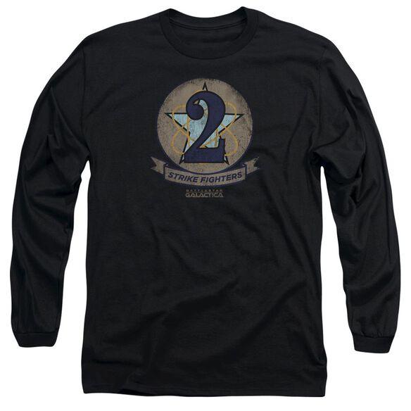 Bsg Strike Fighters Badge Long Sleeve Adult T-Shirt