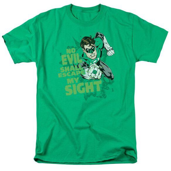 Green Lantern No Evil Short Sleeve Adult Kelly Green T-Shirt