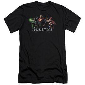 Injustice Gods Among Us Injustice League Premuim Canvas Adult Slim Fit