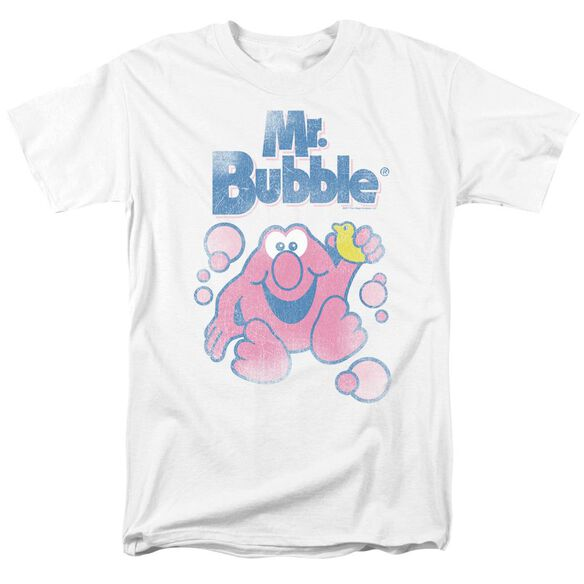 Mr Bubble 80 S Logo Short Sleeve Adult T-Shirt