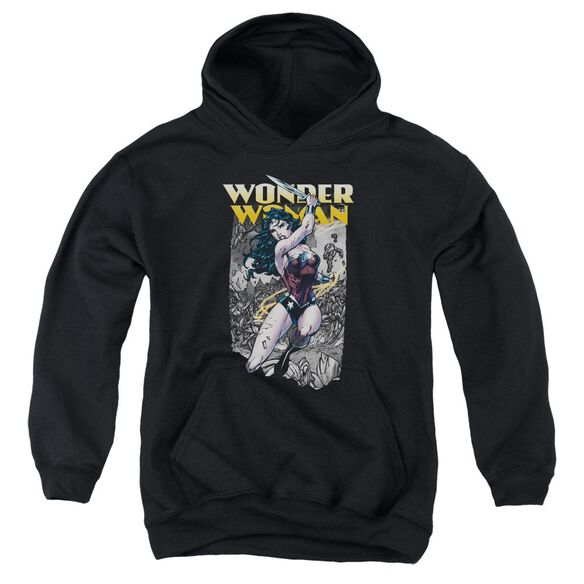 Jla Wonder Slice Youth Pull Over Hoodie