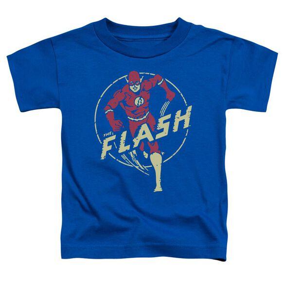Dc Flash Flash Comics Short Sleeve Toddler Tee Royal Blue T-Shirt