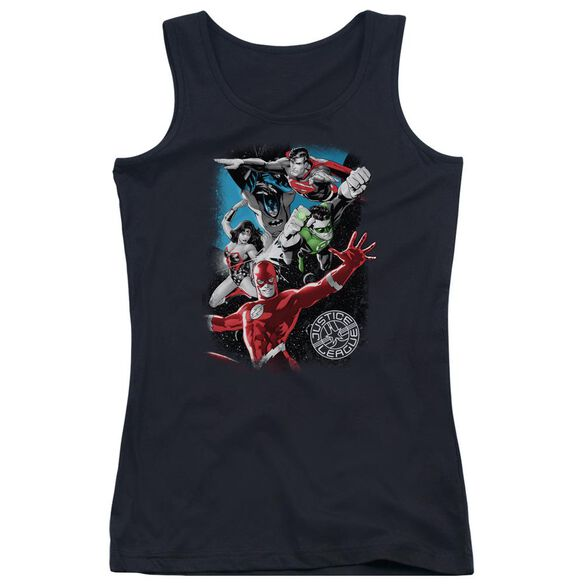 Jla Galactic Attack Juniors Tank Top
