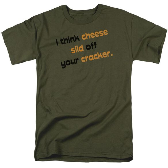 Cheese Slid Off Short Sleeve Adult Military T-Shirt