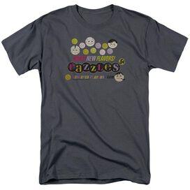 Dubble Bubble Razzles Retro Box Short Sleeve Adult Charcoal T-Shirt