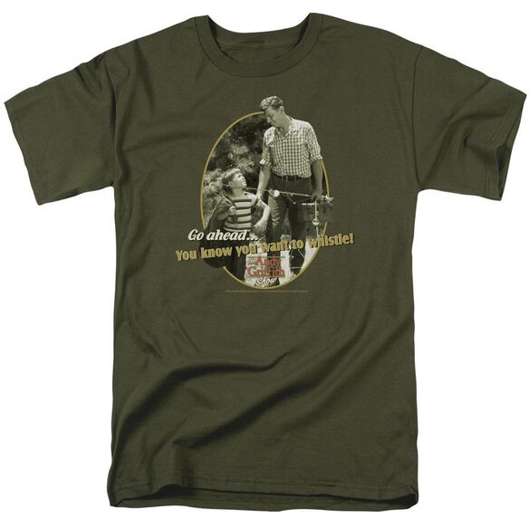 Andy Griffith Gone Fishing Short Sleeve Adult Military Green T-Shirt