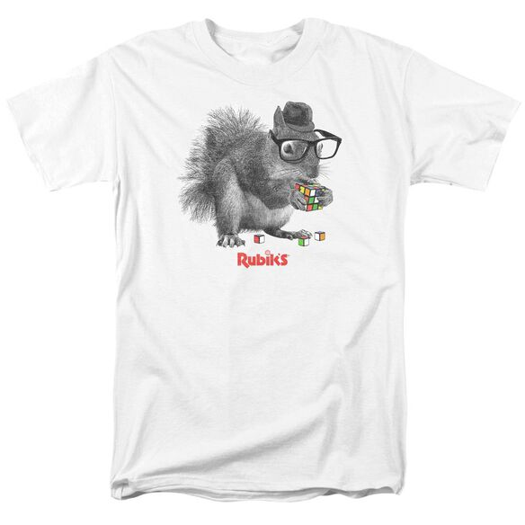 Rubiks Cube Nerd Squirrel Short Sleeve Adult T-Shirt