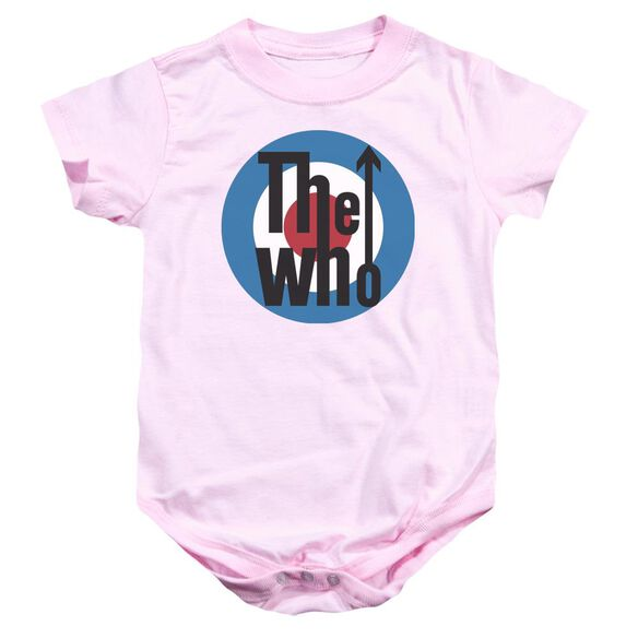 The Who Logo Infant Snapsuit Pink