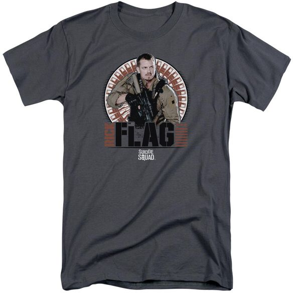 Suicide Squad Rick Flagg Bullets Short Sleeve Adult Tall T-Shirt