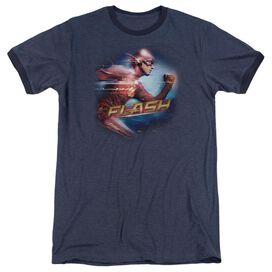 The Flash Fastest Man Adult Heather Ringer Navy