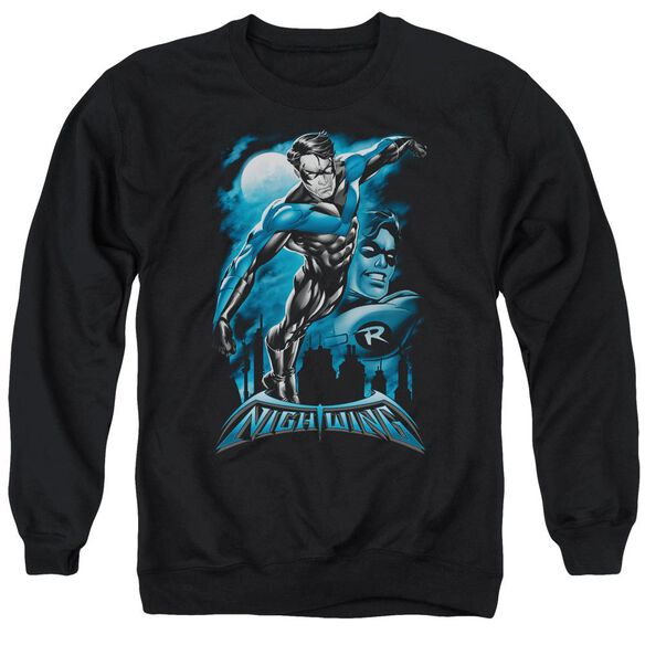 Batman All Grown Up - Adult Crewneck Sweatshirt - Black