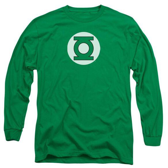 Dc Lantern Logo Long Sleeve Adult Kelly T-Shirt