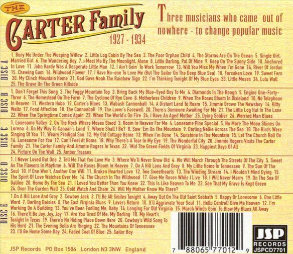 Carter Family: 1927 34