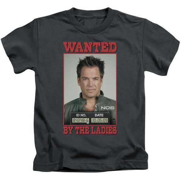 Ncis Wanted Short Sleeve Juvenile Charcoal Md T-Shirt