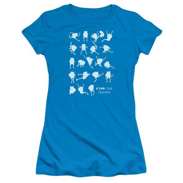 Adventure Time Finn The Human Short Sleeve Junior Sheer T-Shirt
