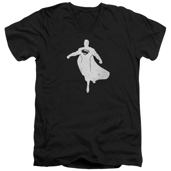 Batman V Superman Superman Silhouette Short Sleeve Adult V Neck T-Shirt