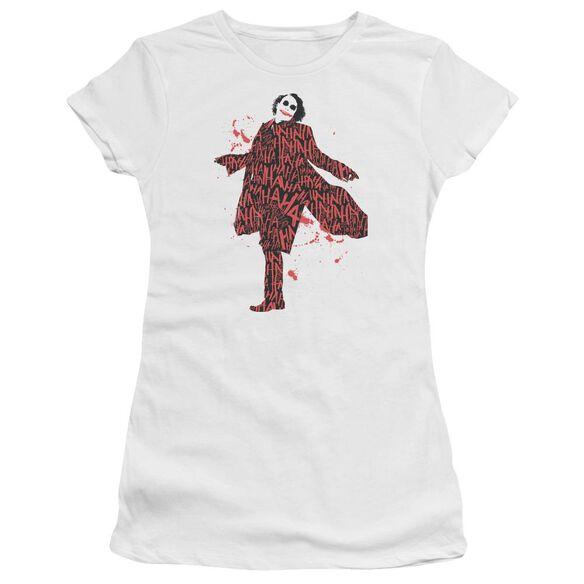 Dark Knight Covered In Laughter Short Sleeve Junior Sheer T-Shirt