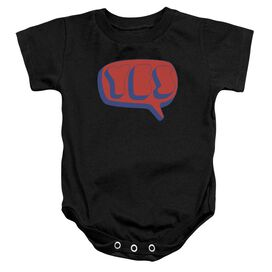 Yes Word Bubble Infant Snapsuit Black