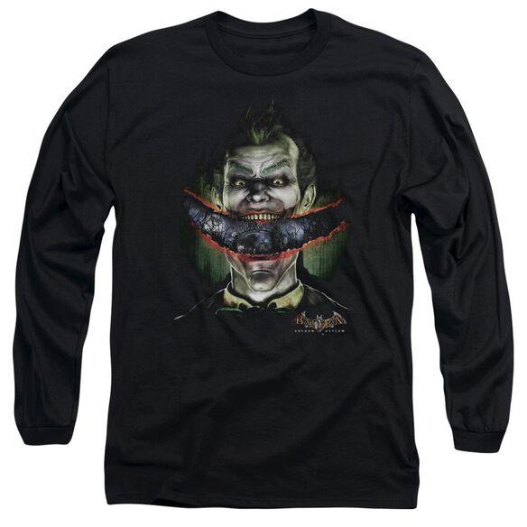 BATMAN AA CRAZY LIPS - L/S ADULT 18/1 - BLACK T-Shirt