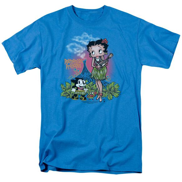 Betty Boop Polynesian Princess Short Sleeve Adult Turquoise T-Shirt