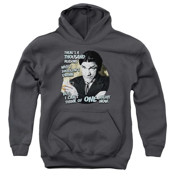 Three Stooges Drink Youth Pull Over Hoodie