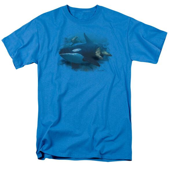 Wildlife Orchestrated Maneuver Short Sleeve Adult Turquoise T-Shirt
