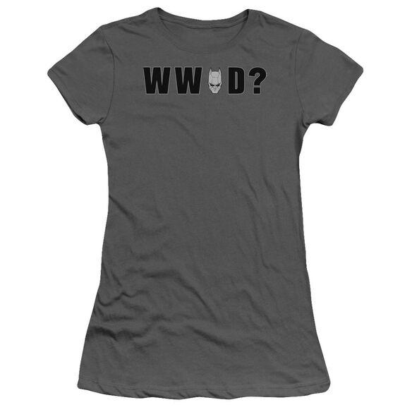 Dark Knight Wwbd Head Short Sleeve Junior Sheer T-Shirt
