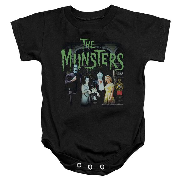The Munsters 1313 50 Years Infant Snapsuit Black