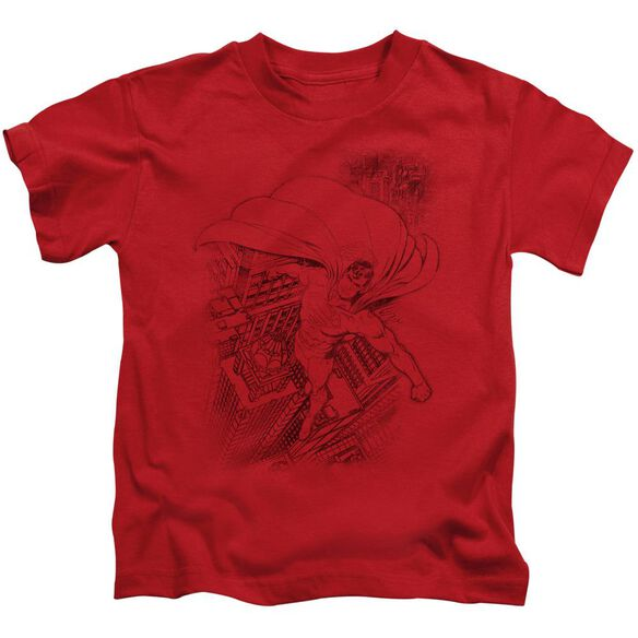 SUPERMAN IN THE CITY - S/S JUVENILE 18/1 - RED - T-Shirt