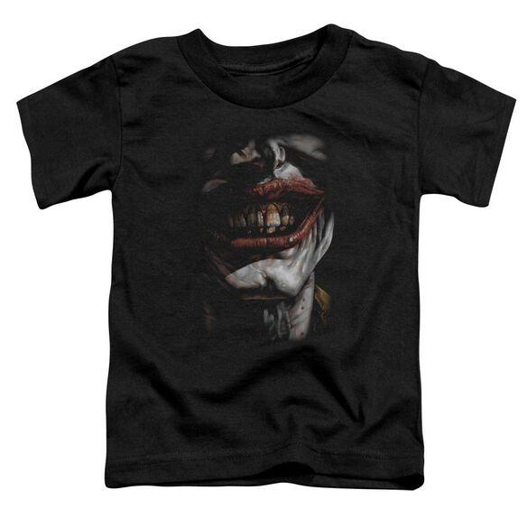 BATMAN SMILE OF EVIL - S/S TODDLER TEE - BLACK - T-Shirt