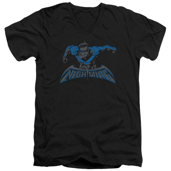 Batman Wing Of The Night Short Sleeve Adult V Neck T-Shirt