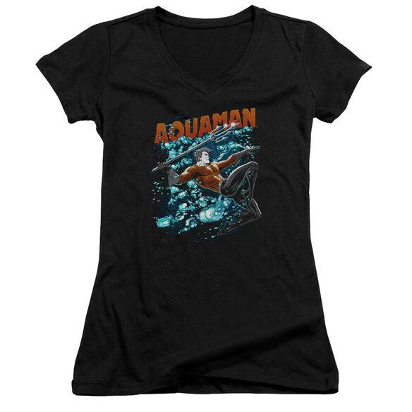 Jla Aqua Bubbles Junior V Neck T-Shirt