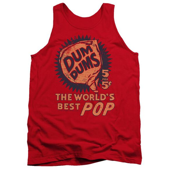 Dum Dums 5 For 5 - Adult Tank - Red