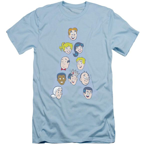 Archie Comics Character Heads Short Sleeve Adult Light T-Shirt