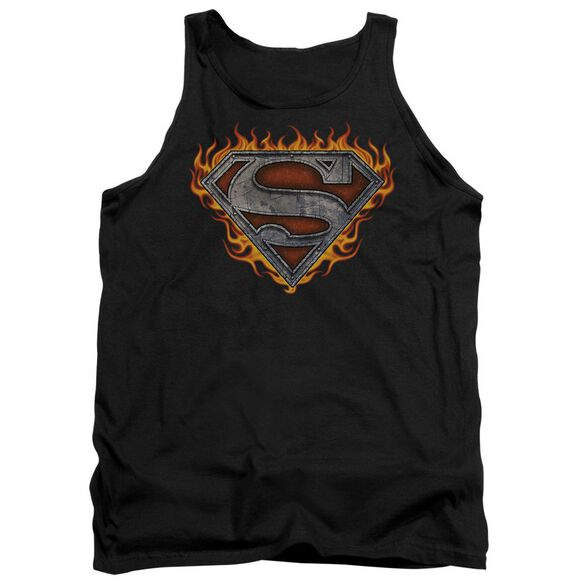 Superman Iron Fire Shield Adult Tank