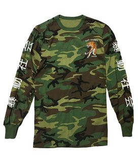 Riot Society Tiger Camo Long Sleeve T-Shirt