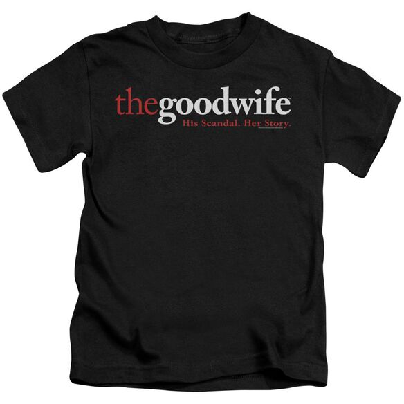 The Good Wife Logo Short Sleeve Juvenile Black T-Shirt