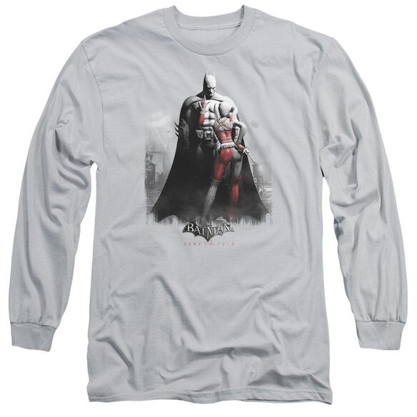 Arkham City Harley And Bats Long Sleeve Adult T-Shirt