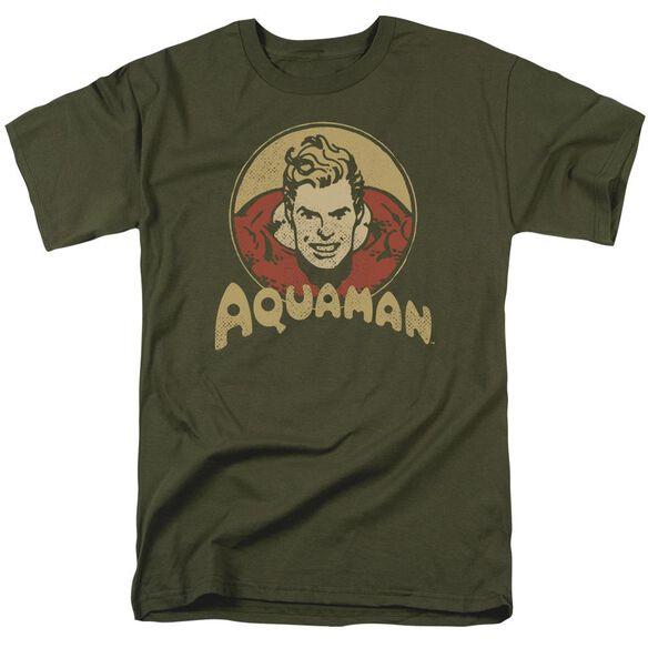Dc Aqua Circle Short Sleeve Adult Military Green T-Shirt